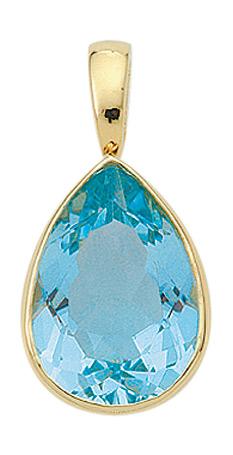 Einhänger für Kette aus Gold mit Aquamarin