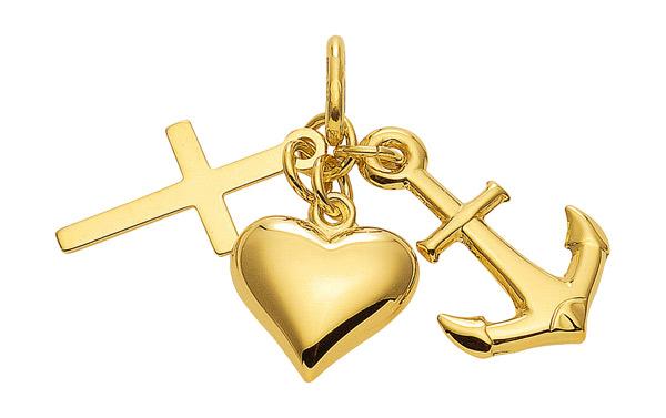 glaube liebe hoffnung kettenanh nger aus gold an11956 gro handel gro h ndler lieferant. Black Bedroom Furniture Sets. Home Design Ideas