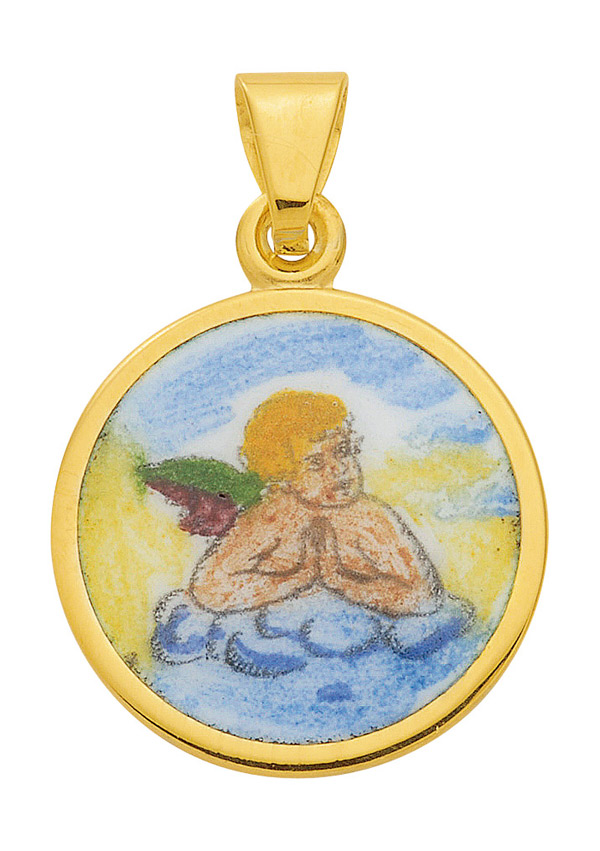 Amor Medaille aus Gold