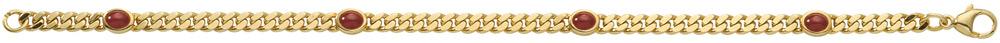 Flachpanzer Armband aus Gold mit Saphir