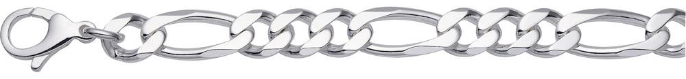 Figaro Kette und Armband aus Silber