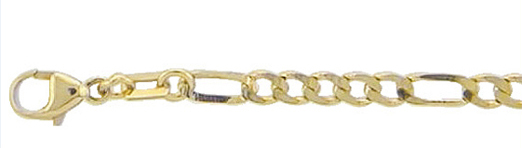 Figaro Kette und Armband aus Gold