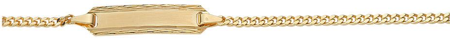 Flachpanzer Gravurarmband aus Gold