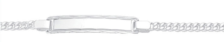 Flachpanzer Id-Armband aus Silber