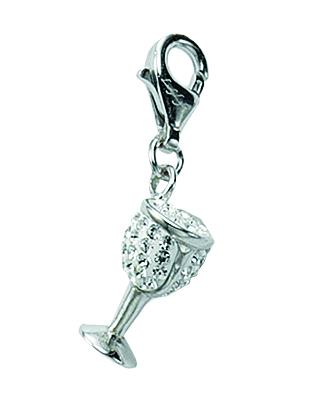 Charms Anhänger aus Silber 925/rh mit Glasstein