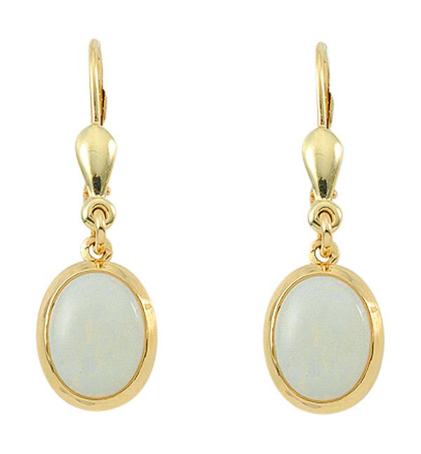 Ohrhänger  Ohrhänger mit Brisur aus Gold mit Opal (OS109020) Großhandel ...
