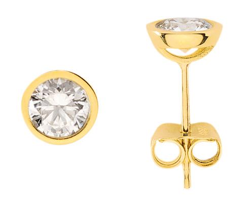 Ohrstecker gold  Gold Ohrstecker mit Zirkonia (OS129422) Großhandel | Großhändler ...