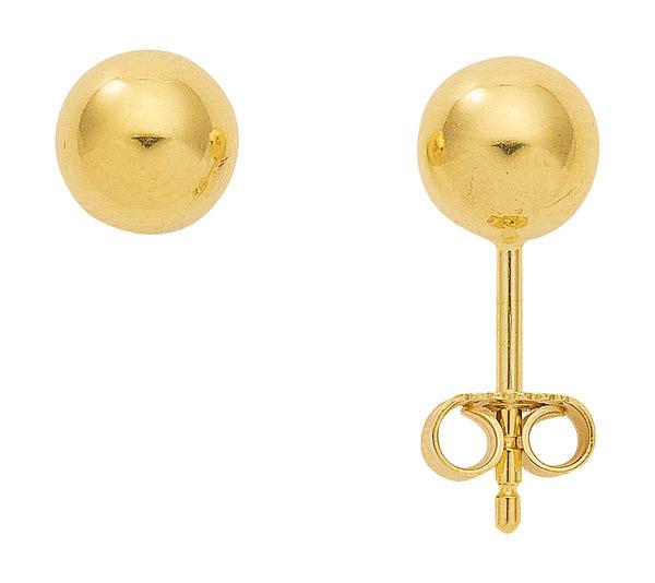 Kugel Ohrstecker aus Gold