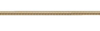 Schlange Collier Kette aus Silber goldplattiert