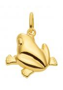 Frosch Kettenanhänger aus Gold