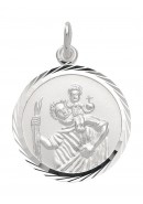 Christophorus Anhänger aus Silber