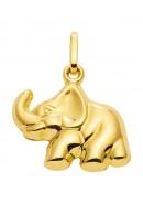 Elefant Kettenanhänger aus Gold