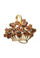 Brosche aus Gold mit Granat