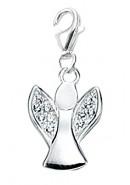 Engel Charms Anhänger aus Silber 925/- mit Zirkonia