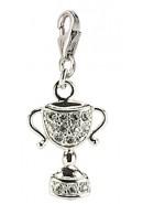 Pokal Charms Anhänger aus Silber 925/rh mit Zirkonia