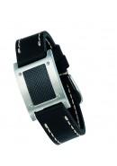 Leder Armband Carbon