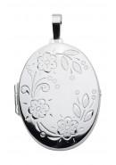 Ovales Medaillon aus Silber