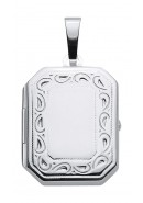 Eckiges Medaillon aus Silber