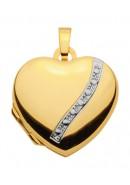 Herz Medaillon aus Gold