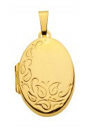 Ovales Medaillon aus Gold