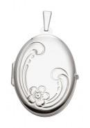 oval Medaillon aus Silber
