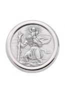 Christophorus Autoplakette aus Silber
