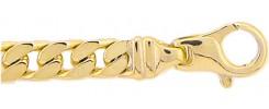 Flachpanzer Armband aus Gold