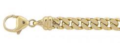 Flachpanzer Kette und Armband aus Gold