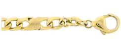 Fantasie Kette und Armband aus Gold
