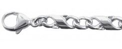 Fantasie Kette und Armband aus Silber
